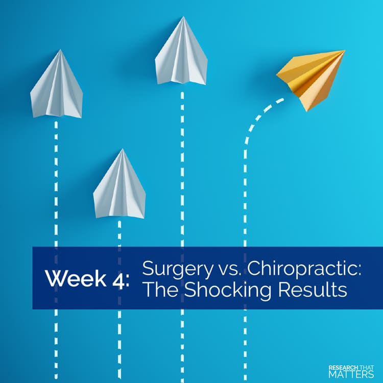 Shocking Results Between Surgery and Chiropractic Care